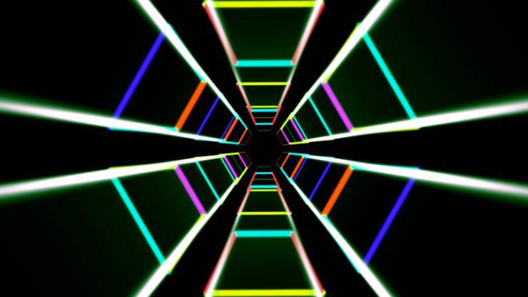 闪闪发光万花筒隧道