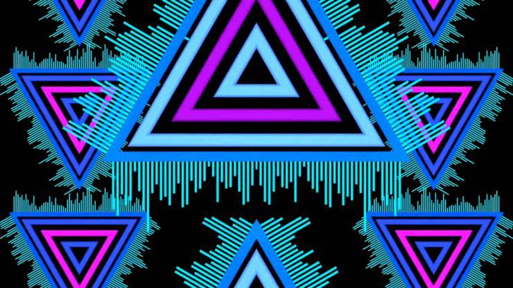 三角形上升下落