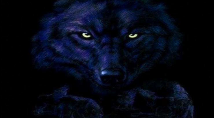 神秘狼图腾狼头舞蹈背景