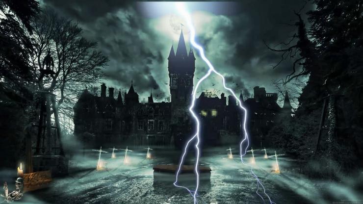 恐怖城堡 魔术 话剧 LED大屏幕背景