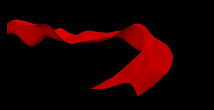 红色丝绸飞舞