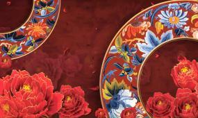 中国风 中国红 新春素材 年会 民族舞蹈 开门红