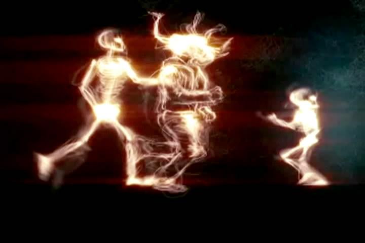 创意粒子人奔跑