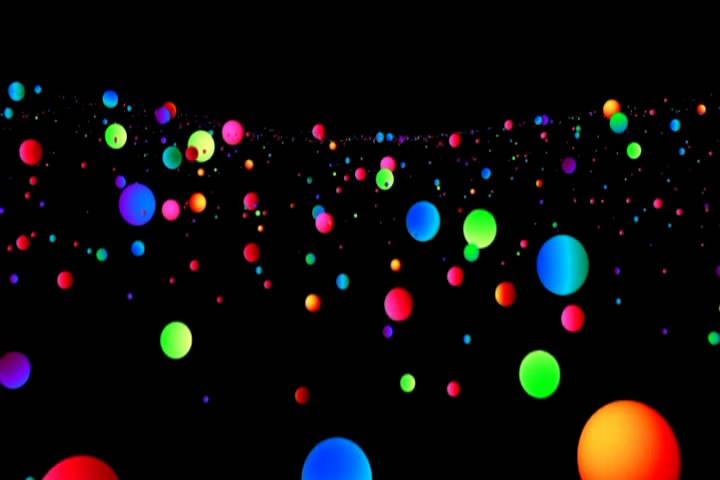 唯美色彩小球暖场