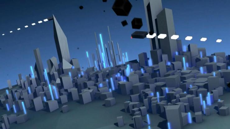 震撼大气地球旋转虚拟城市