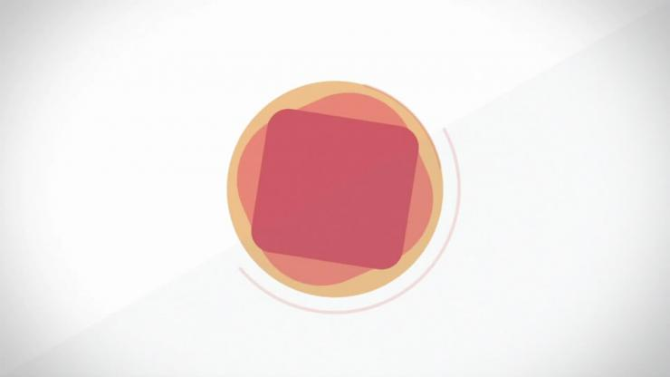 简约扁平化mg动画企业logo展示ae模板