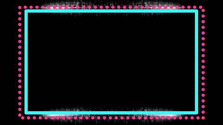 红蓝透明相框