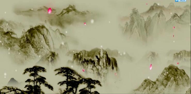沁园春雪背景素材