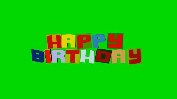 生日快乐英文背景视频