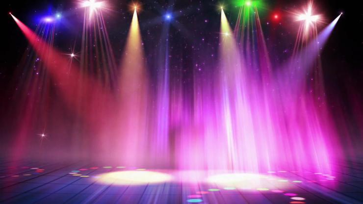 绚丽舞台闪光灯动态背景视频
