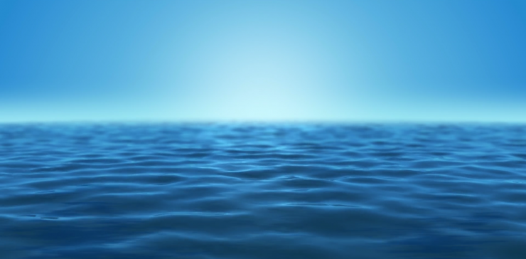 蔚蓝的海水