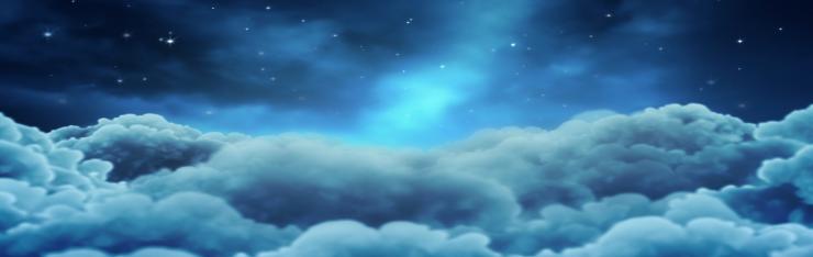 梦幻繁星满天的夜晚