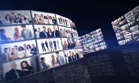 企业公司文化照片墙宣传展示ae模板