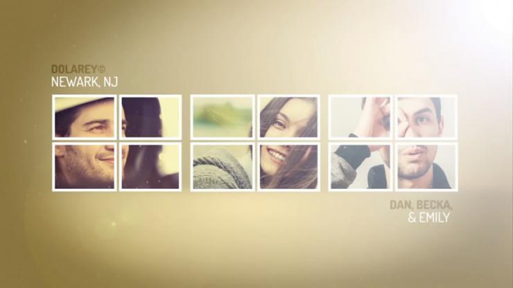 图片分割折叠展开相册片头模板