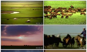 实拍草原风光高清视频素材 草原风景 蒙古包