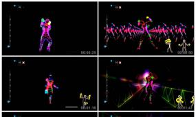 0071荧光舞蹈LED大屏幕背景视频素材