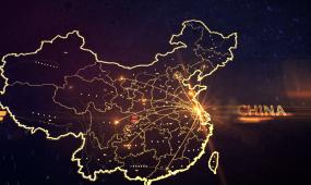 中国地图城市连线