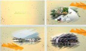 EDIUS彩色画水墨视频模板清新水墨相册
