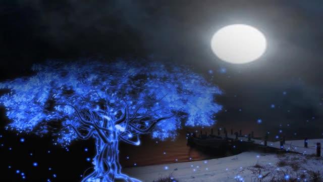 星空粒子树视频素材-婚庆浪漫视频素材免费下载-片头
