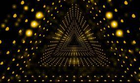 三角隧道光效