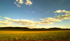 美丽草原我的家舞台背景led动态视频素材