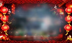 2017鸡年贺岁拜年祝福遮罩边框视频素材