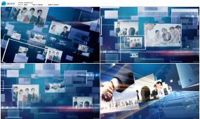 科技线条公司大数据年会企业员工照片AE模板