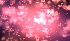 2K10分钟唯美浪漫爱情粉色桃心背景视频