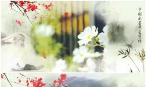 中国风水墨宣传片头模板ED水墨宣传视频模板视频模板