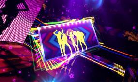 光芒照射舞台LED大屏幕夜场酒吧背景视频素材