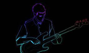 激情闪烁光线条乐队音乐背景