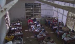 山区孩子 上学 农村学校 上课 打球 生火 奔跑 视频素材