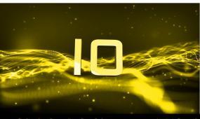 震撼大气金色粒子10S倒计时视频