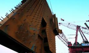 建筑工地城市建设 辛勤劳动 工地施工建设 实拍素材