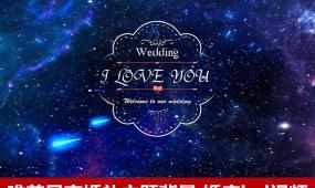 唯美梦幻星空婚礼主题背景婚礼logo婚庆视频