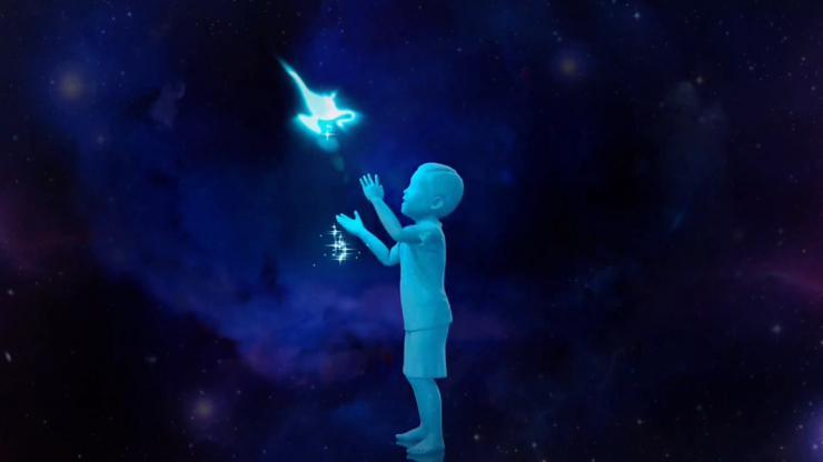 童话儿童星空LOGO片头会声会影模板