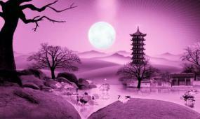 水墨中国风中秋节祝福模板