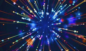 z0147小星星发散 蓝色背景 led视频素材