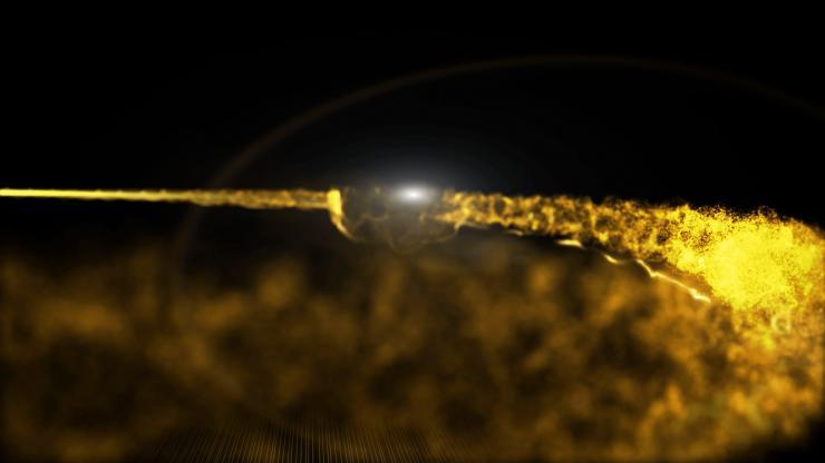 金色粒子转场