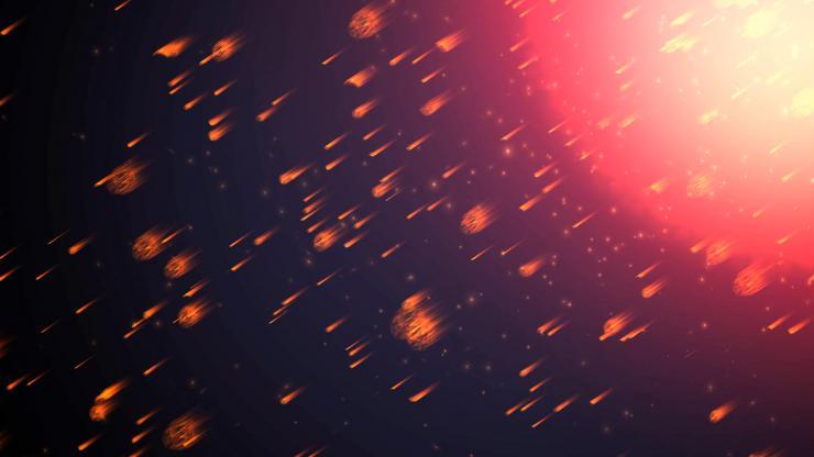 火焰粒子瀑布