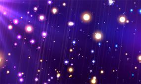 紫色梦幻粒子背景视频