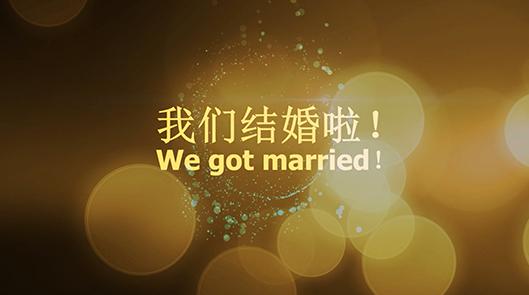 会声会影唯美金色粒子浪漫婚礼相册