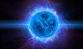 梦幻科技的蓝魔球视频素材