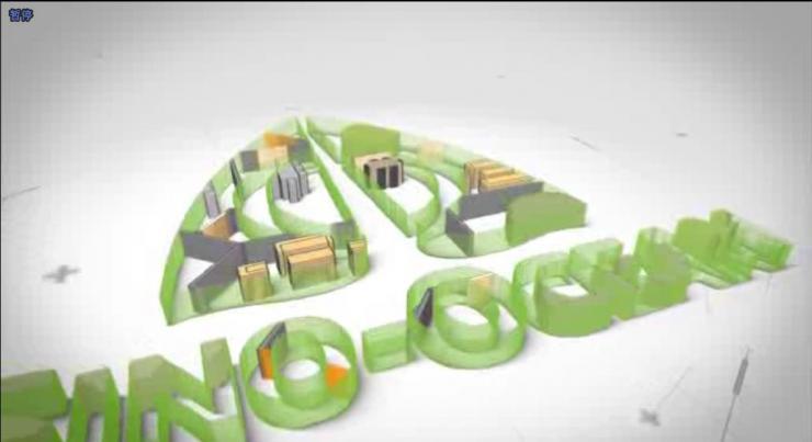 清爽企业三维标志建筑挤压动画公司LOGO片头动画