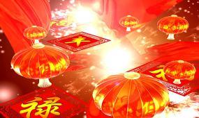 2018新年喜庆福娃背景素材