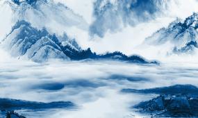 水墨山水山峦云雾雾气唯美浪漫中国风民族古