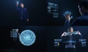 手指互动 科技 手指 飞机 互动 科技商务 虚拟城市 科技城市