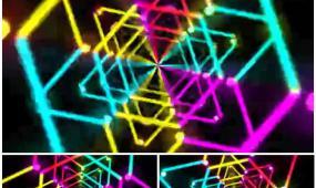 彩色霓虹閃光線條