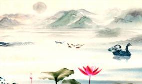 中国风水墨荷花