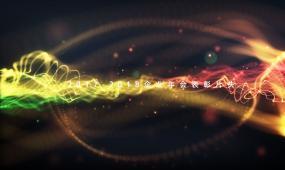 优雅粒子线条文字动画